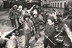 """Со съемочной площадки """"Усатый нянь"""". Я - с лопатой :) 1977 г."""