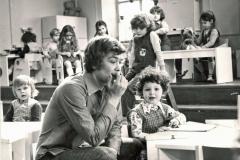 """На съемочной площадке фильма """"Усатый нянь"""" 1977 г."""
