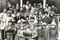 """Групповое фото участников фильма """"Усатый нянь"""", к сожалению, не всех. Весна 1977 г."""